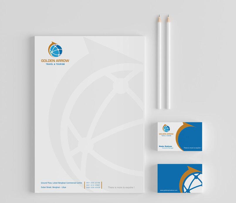 Golden Arrow - Travel & Tourism Brand & Logo Design.
