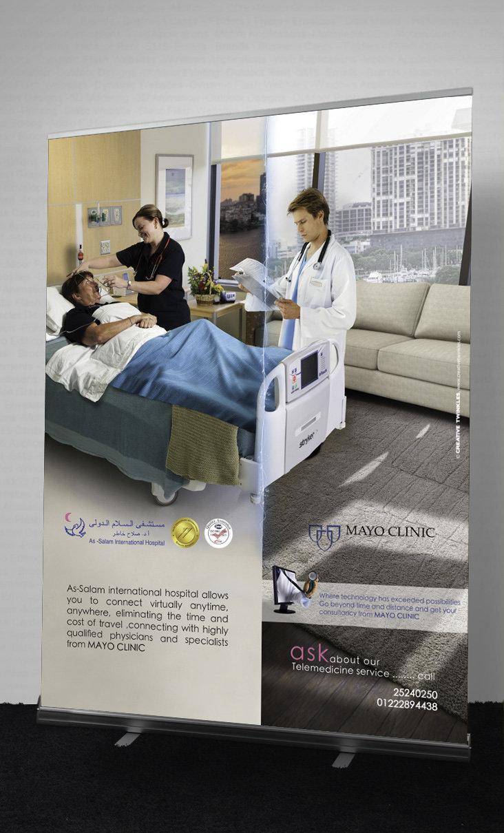 Tele Medicine Project Rollup Mockup