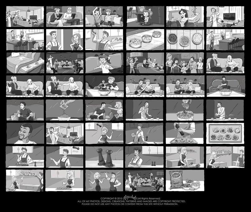 B/W Storyboards