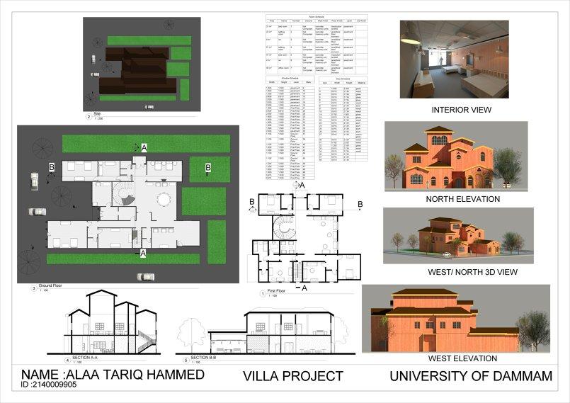 مشروع فيلا سكنية فخمة (شغل ريفيت فقط )