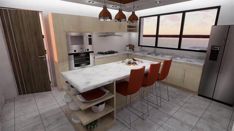 Kitchen interior design- 3D Animation