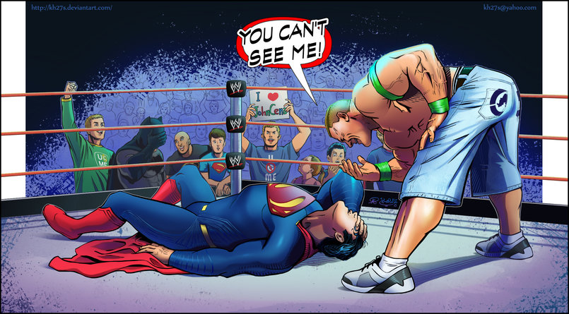 John Cena vs Superman. I Did this piece for practice but had a lot of fun with it.