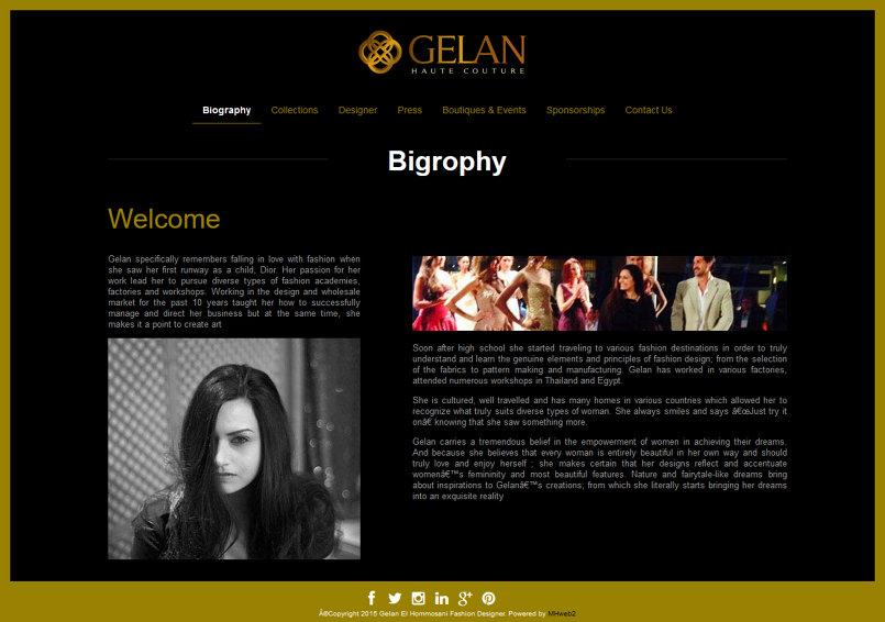 Gelan El Hommosani Fashion Designer