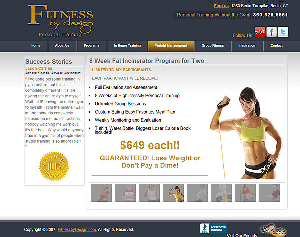Fitness By Design: Berlin, CT Personal Training