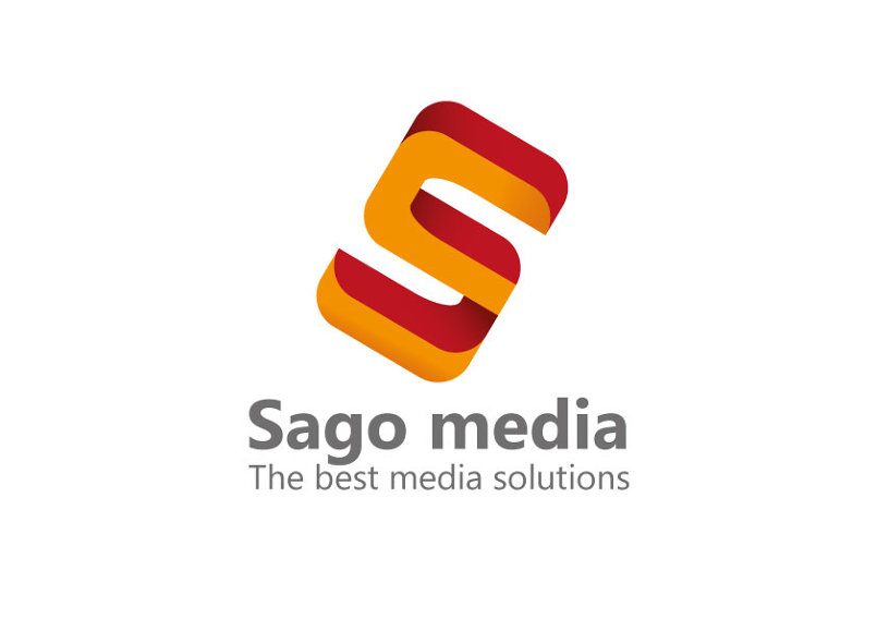 تصميم شعار وهوية ساجوميديا sagomedia logo&stationery