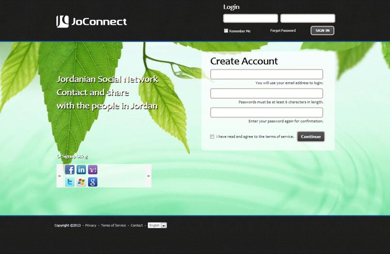 جوكونكت - شبكة التوصل الاجتماعي الاولى للاردن - 2012