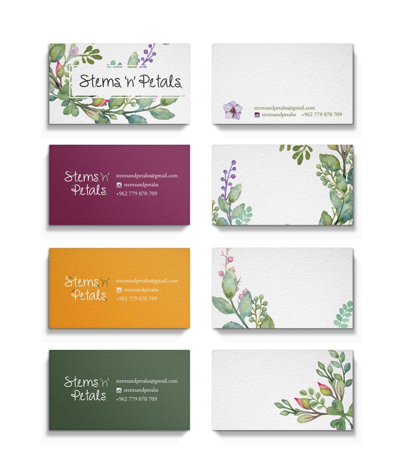 Stems 'n' Petals - Business Cards