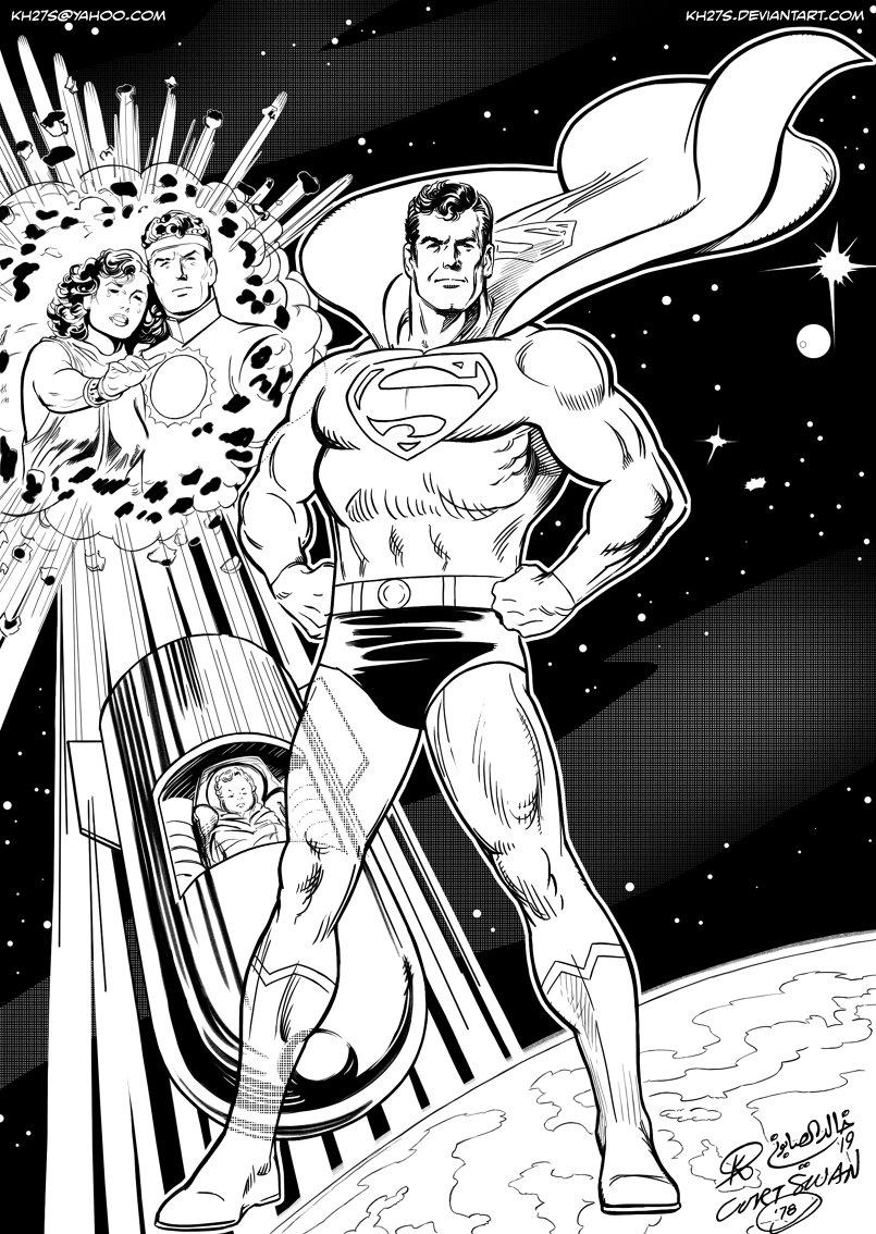 Inks by me. Original pencils by Curt Swan: https://comics.ha.com/itm/original-comic-art/illustrations/curt-swan-superman-illustration-original-art-1978-/a/7141-94436.s