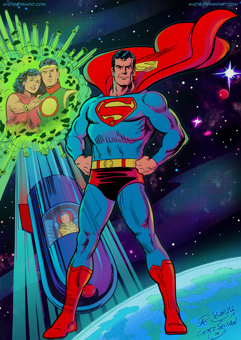 Inks and Colors by me. Original pencils by Curt Swan: https://comics.ha.com/itm/original-comic-art/illustrations/curt-swan-superman-illustration-original-art-1978-/a/7141-94436.s