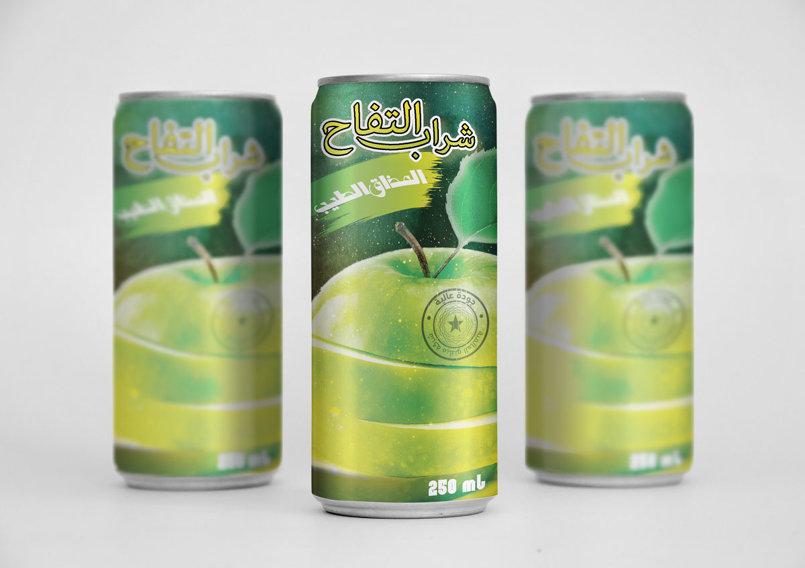 صورة تصورية لعبوات المنتج - شراب التفاح