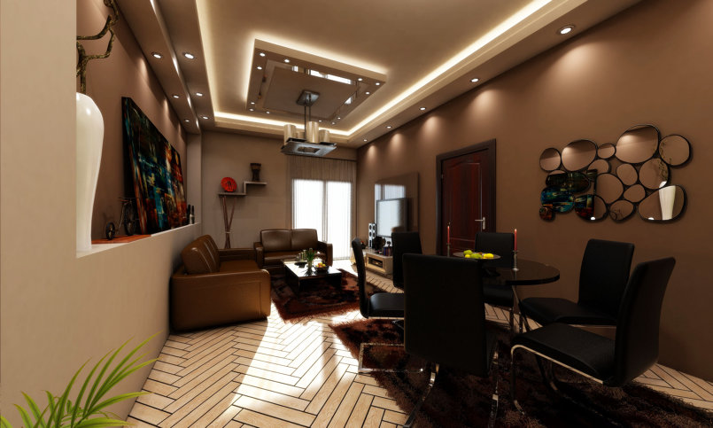 Living Area Interior Design - CAIRO