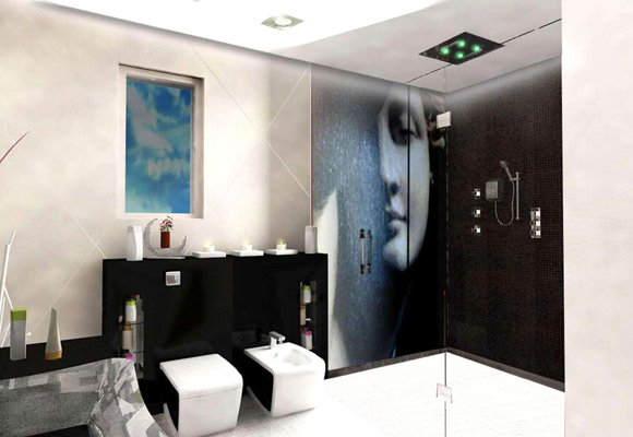 Al obaidi Villa Bathroom, 3dsmax 2011, Vray