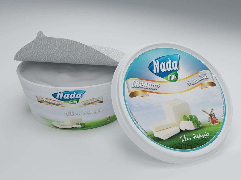 ( حليب ندى ) تصميم علامة تجارية و غلاف خارجي لمنتج حليب