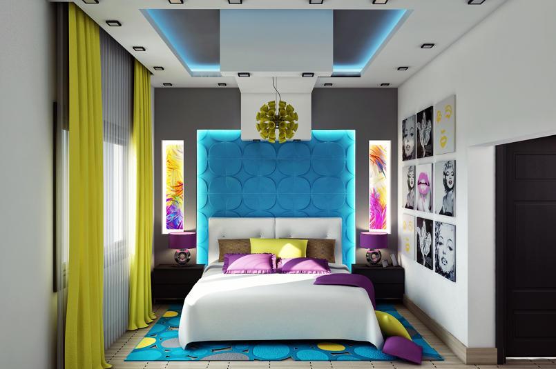 Colorful Modern Bedroom