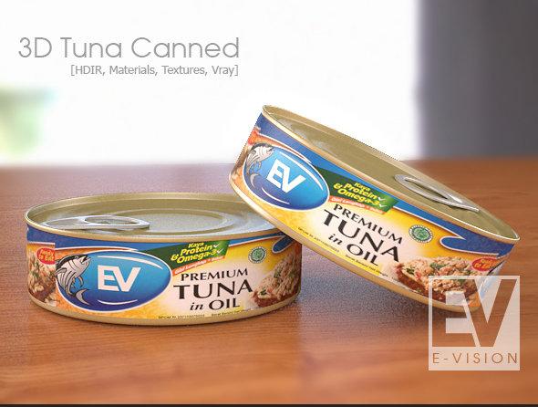 3D Tuna Canned Mockup
