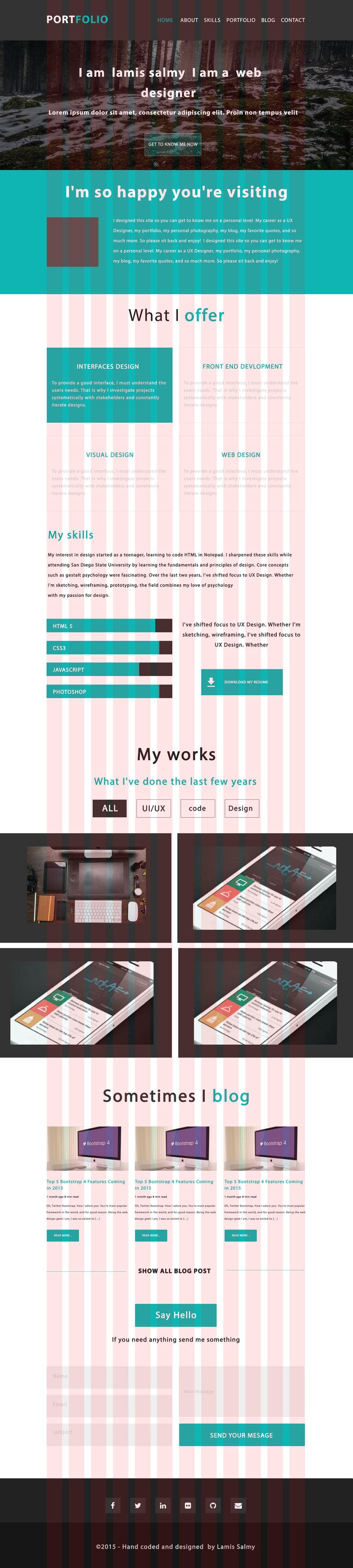 portfolio landing page-with grid sysytem
