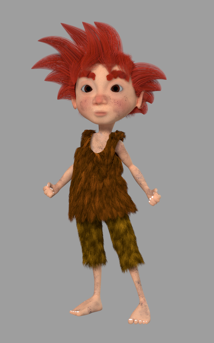 ready character done in blender