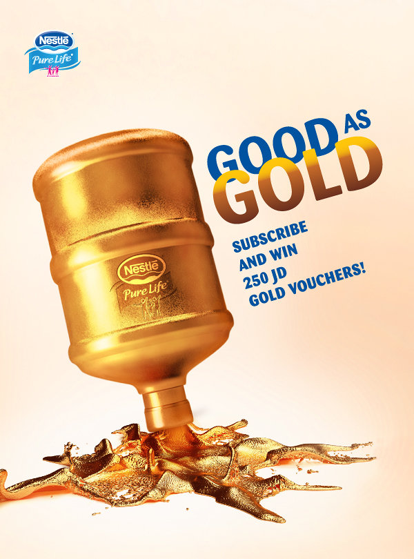 Nestle Gold water campaign