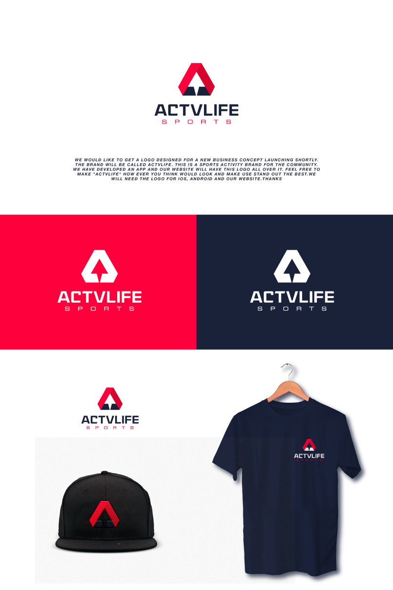 actvlife logo design