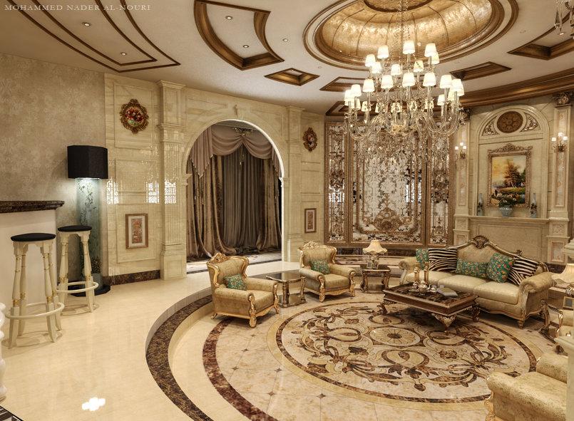 غرفة جلوس طراز كلاسيكي