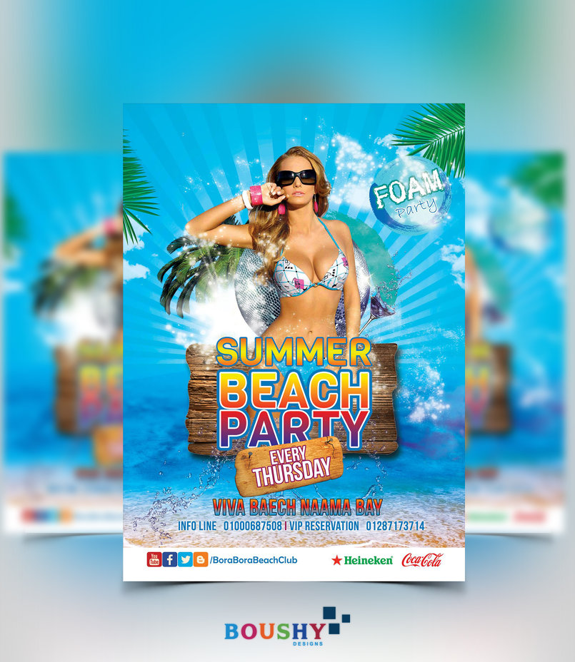 Bora Bora Beach Club Flyer