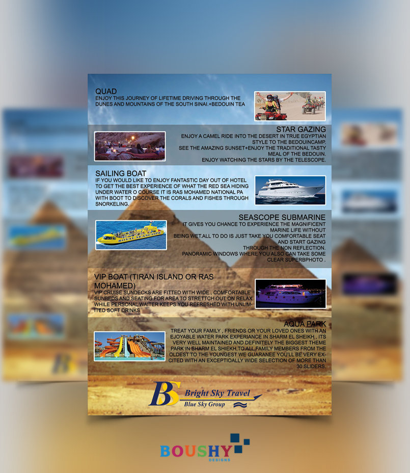 Bright Sky Travel Flyer