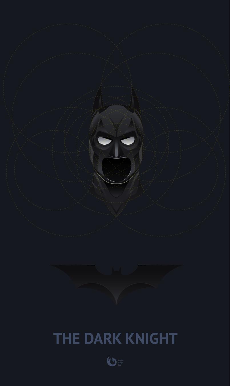 The Dark Knight vector art