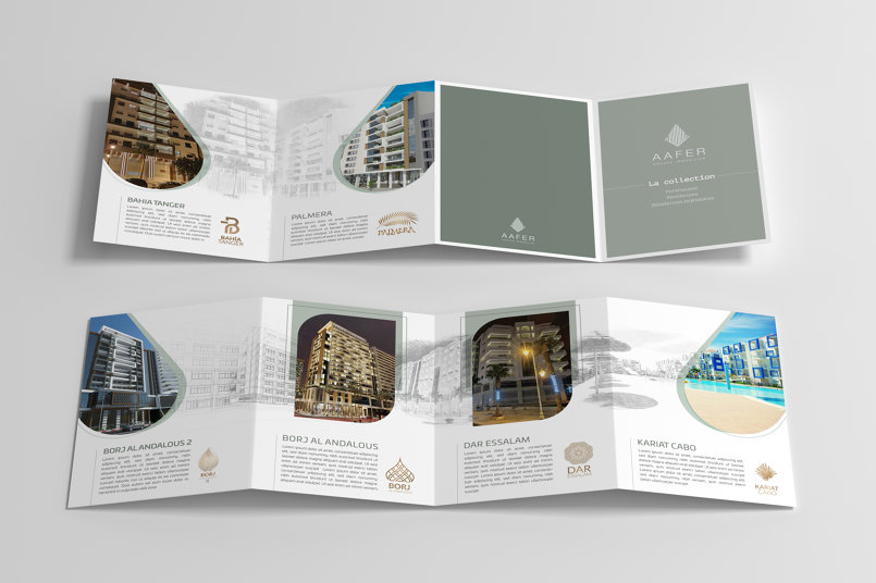 Brochure 4 volets groupe AAFER Immobilier
