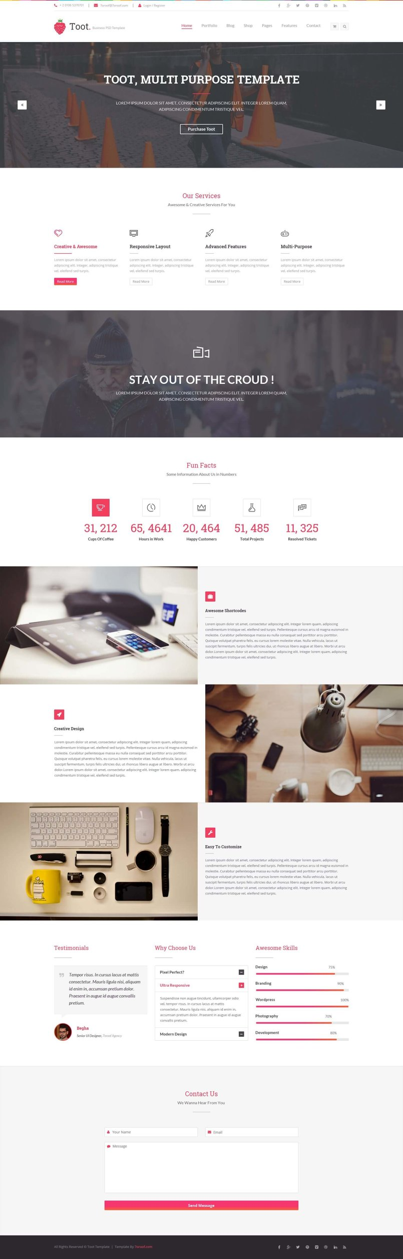 Toot – Multi-purpose Business HTML Template