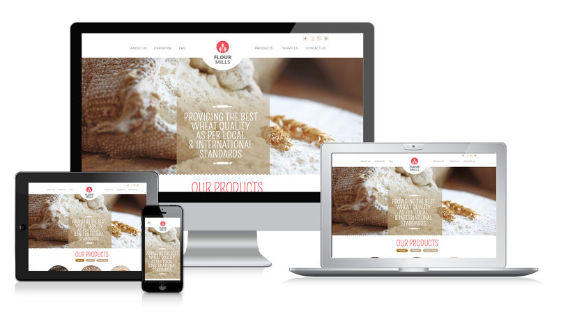 Flour Mills Website Design