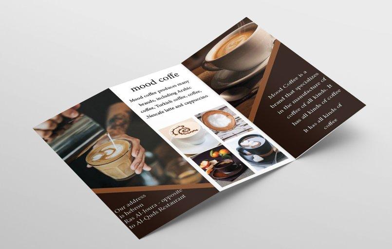 تصميم برشور لمحل قهوة
