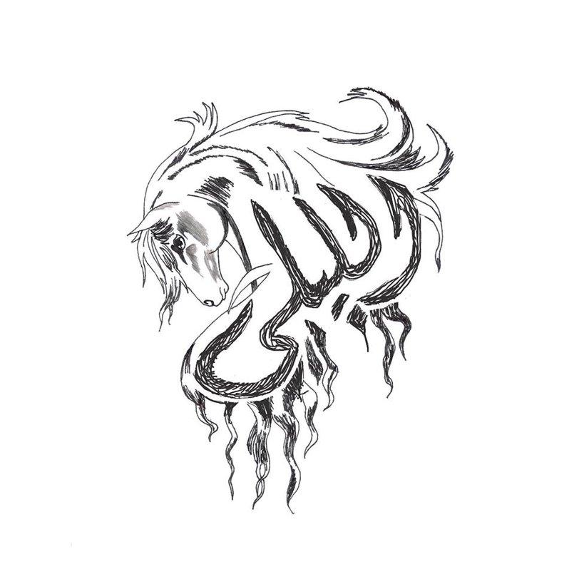 """تصميم لوجو """"الليلى"""" مزرعة خيل"""