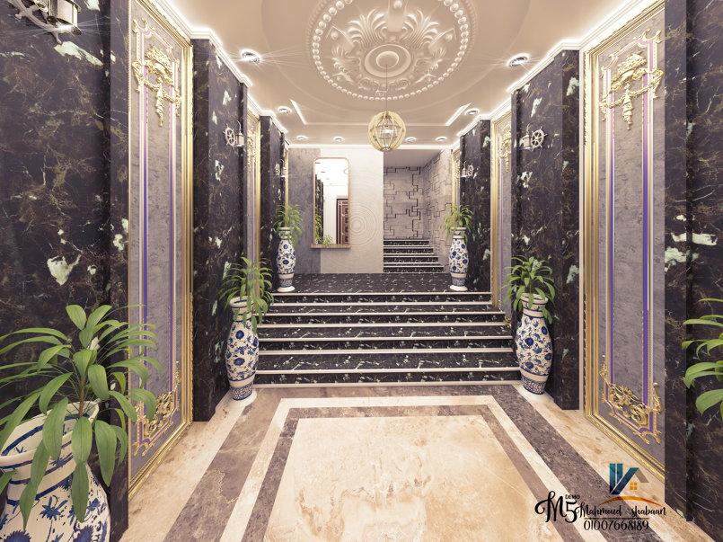 تصميم مدخل عماره سكنية