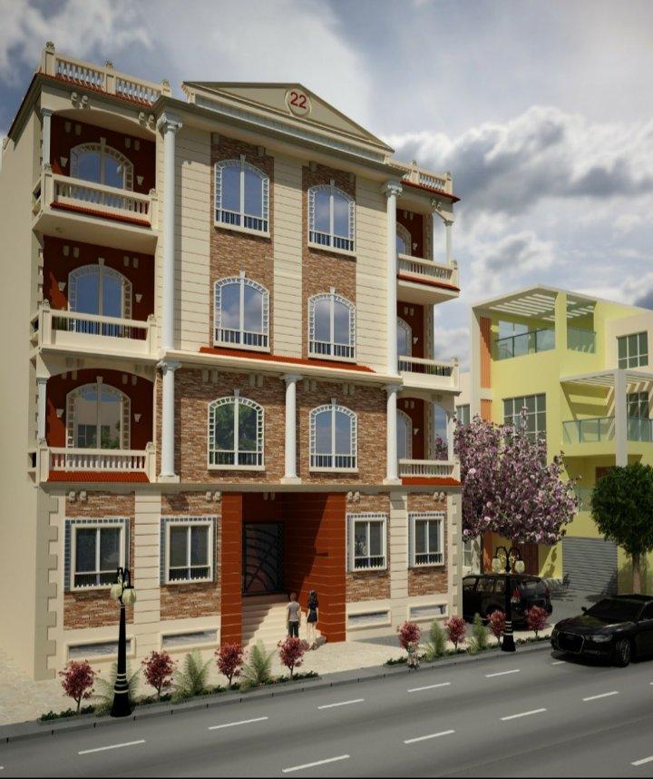 تصميم وجهة عمارة سكنية التجمع الخمس