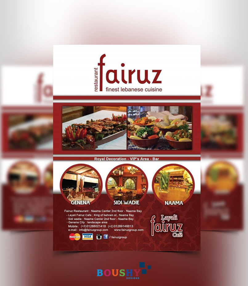 Fairuz Restaurant Flyer