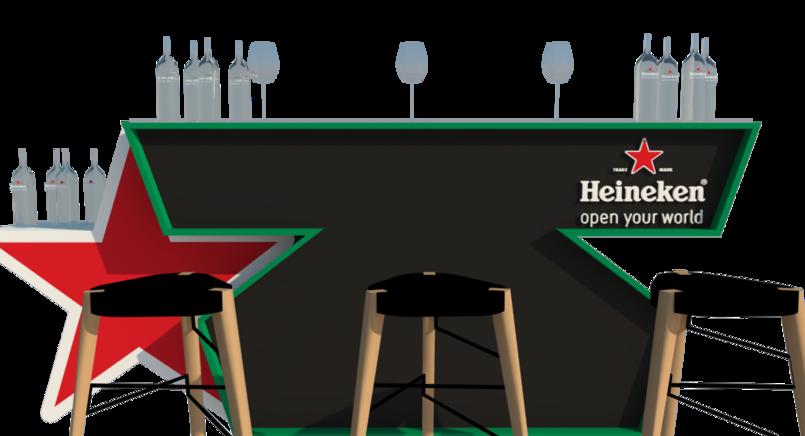 Heinken Bar and High Table Design