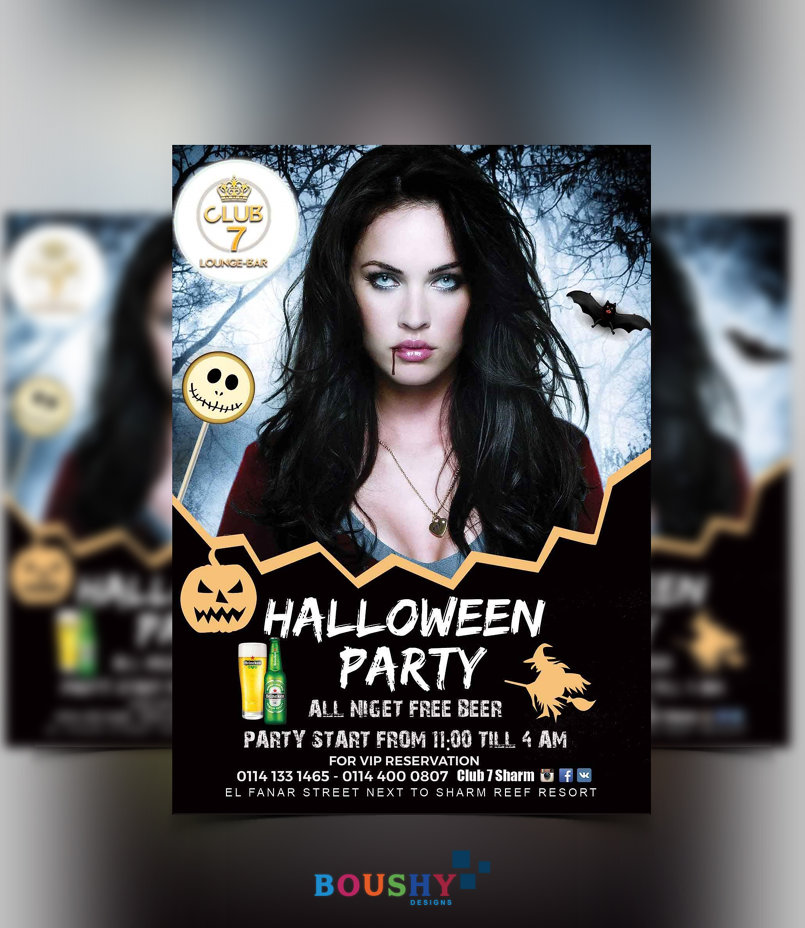 Club 7 halloween Party Flyer