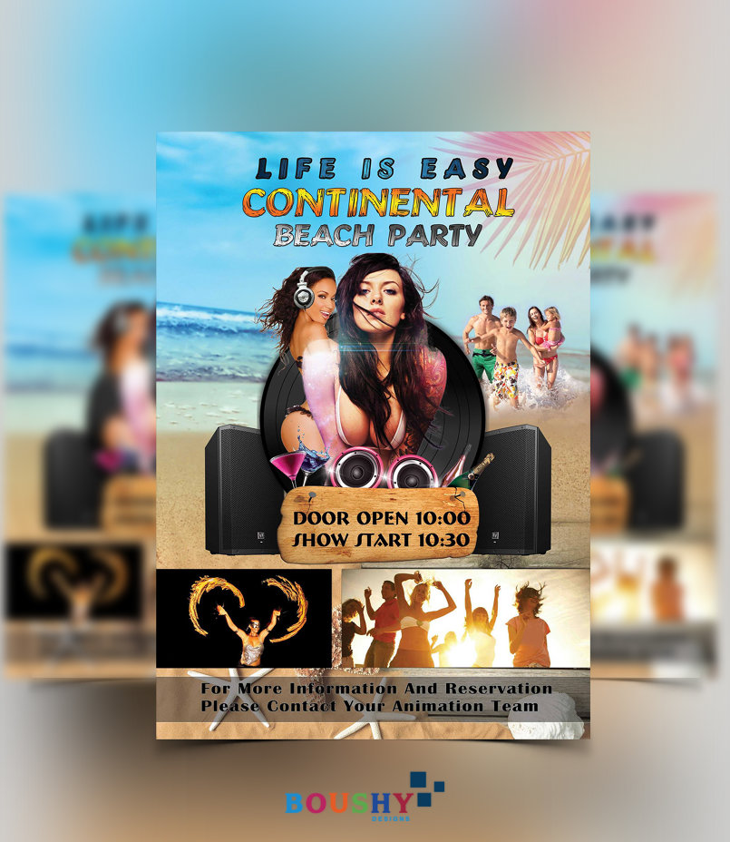 Continental Beach Party Flyer