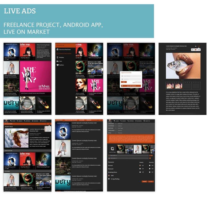 Live Ads  Tablet Designs Application