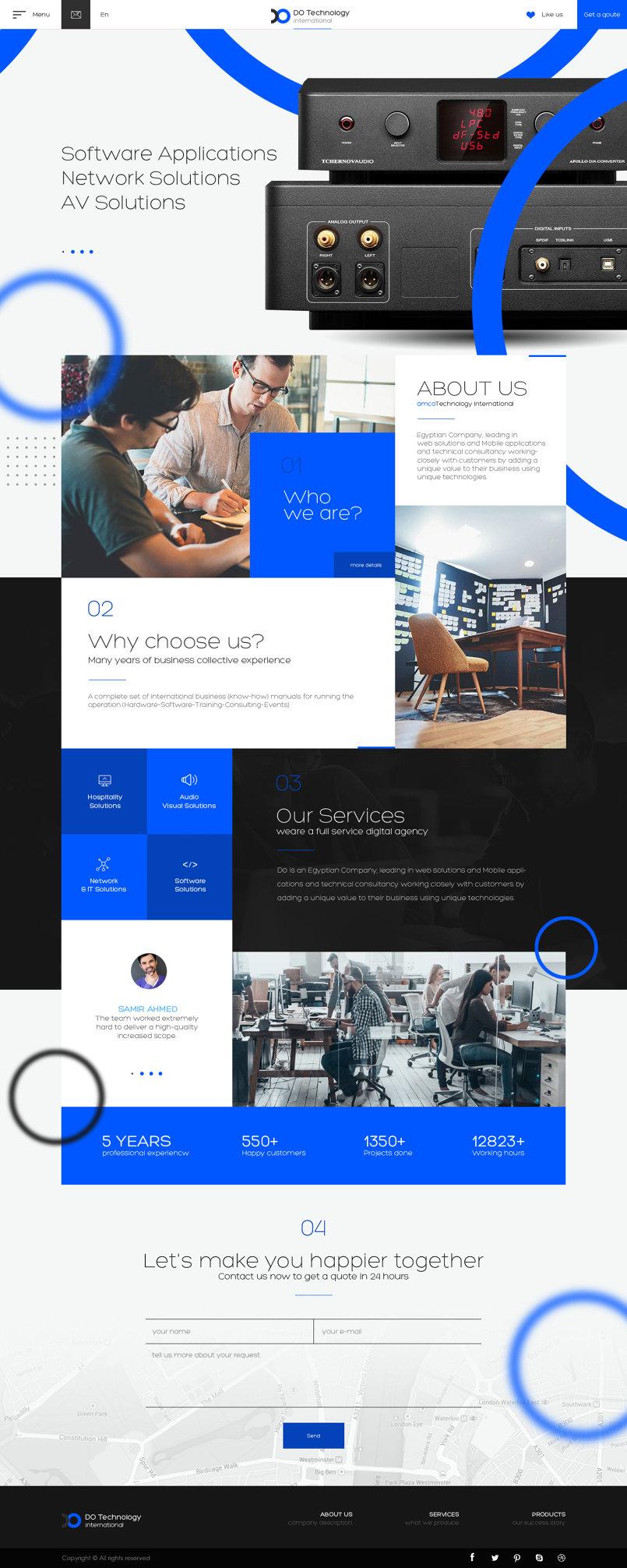 Do (Ui/Ux Design) Parallax Responsive website design
