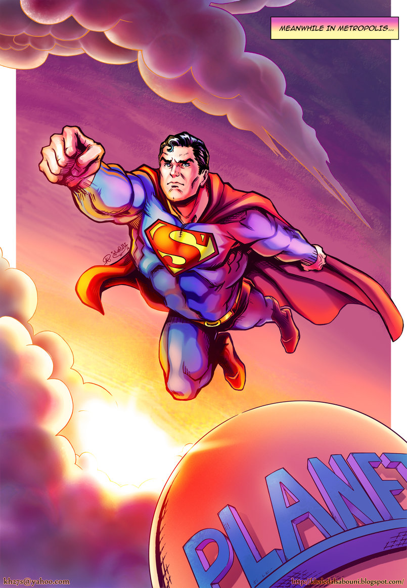 The eighties Superman is the best version of Superman in my opinion. This piece is inspired by the work of a number of legendary artists who drew Superman in the eighties.