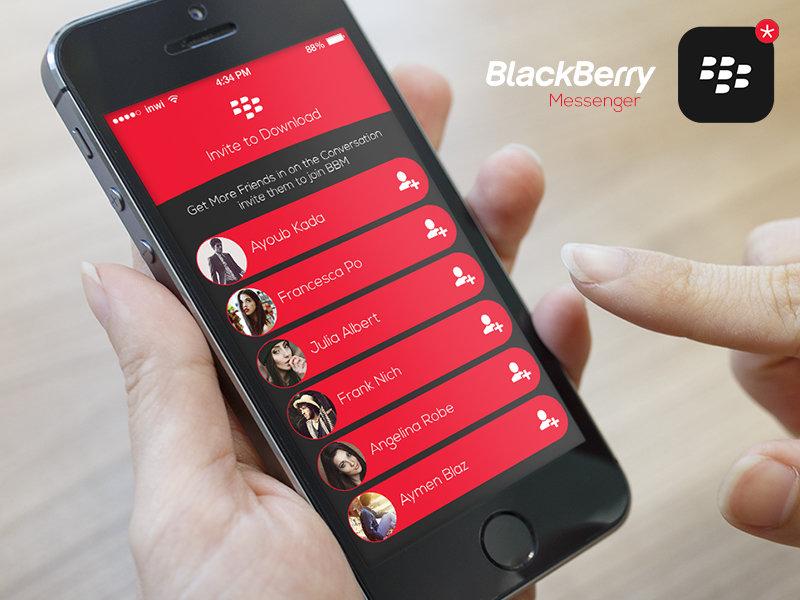 Blackberry Messenger IOS8 Invite Friends