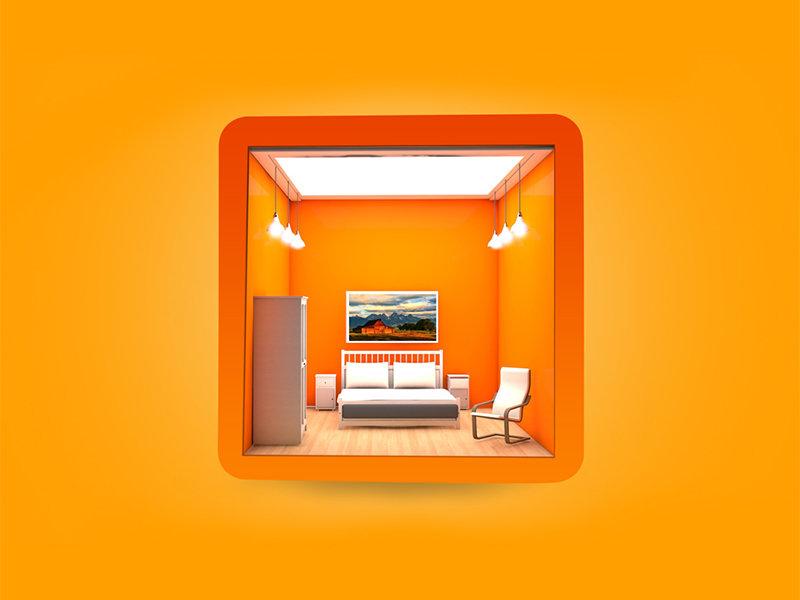 3D Room app Icon