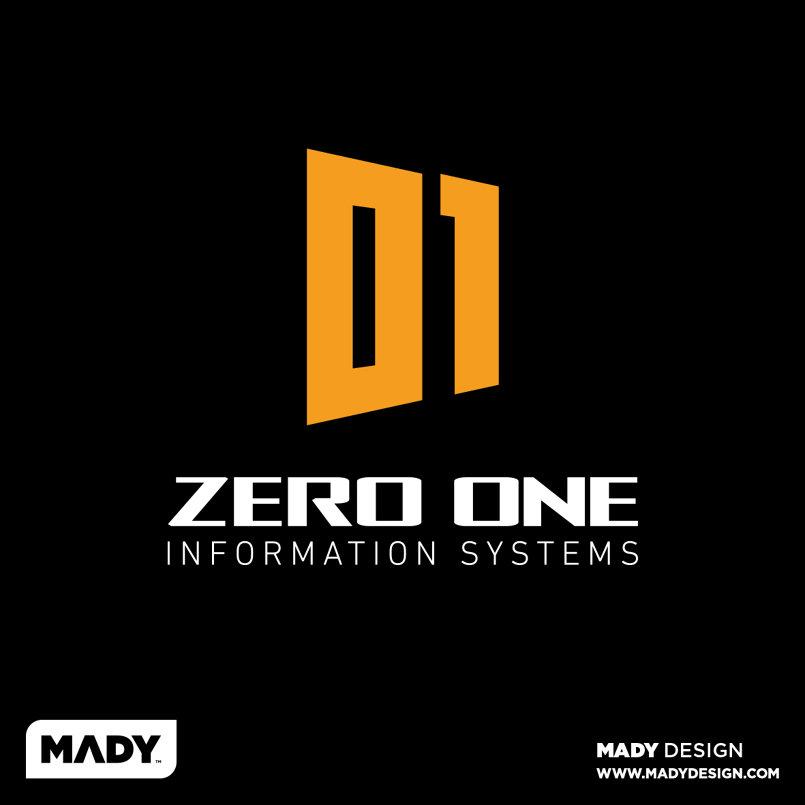 ZERO ONE Informaion Systems Logo شعار زيرو ون لأنظمة المعلومات