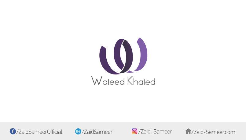 """تصميم شعار شخصي """"وليد خالد"""""""