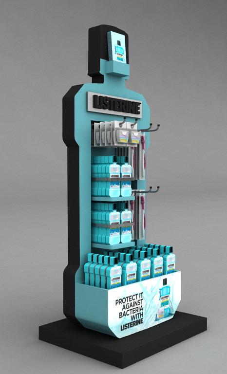Listerine Dental stand