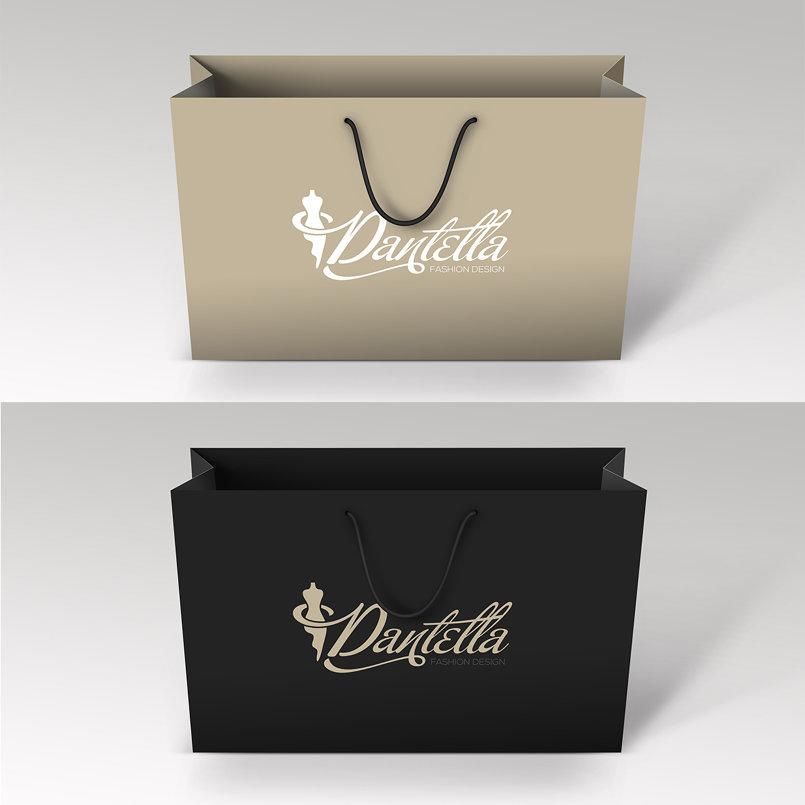 Dantella Fashion Design Logo شعار دانتيلا لتصميم الأزياء