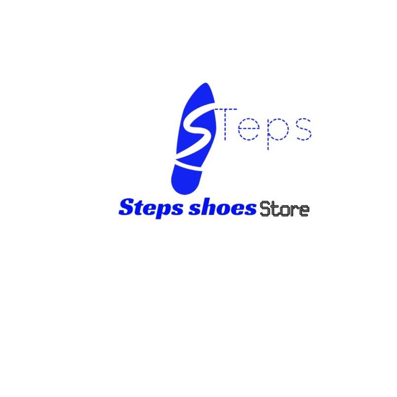 شعار وبوستر لمتجر steps shoes