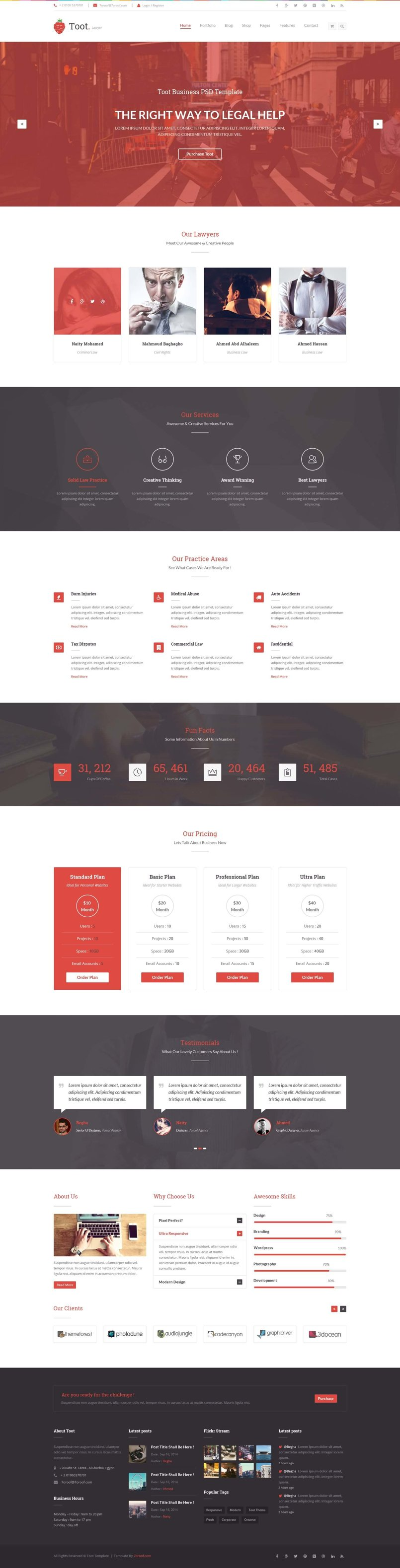 Toot – Multi-purpose Business HTML Template - By Mahmoud Bayomy ...