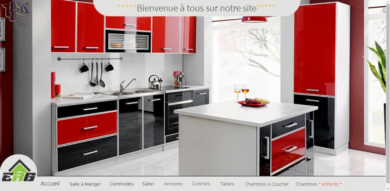 تصميم موقع  EAG-DZ للتجهيزات المنزلية 2015